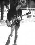 Me strumming Ibanez Artcore guitar in hollywood bowl parking lot
